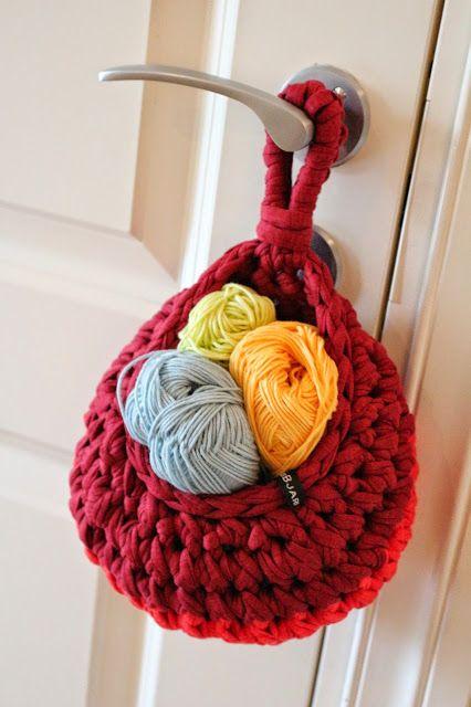 Die 25+ Besten Ideen Zu Textilgarn Auf Pinterest | Stoff Korb ... Blumenampel Selber Machen Hangekorb