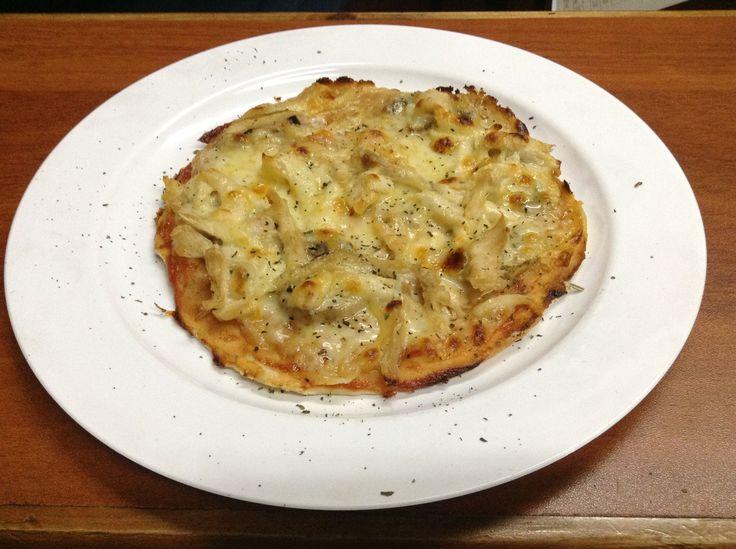 Pizza Personal de Pollo con Champiñones