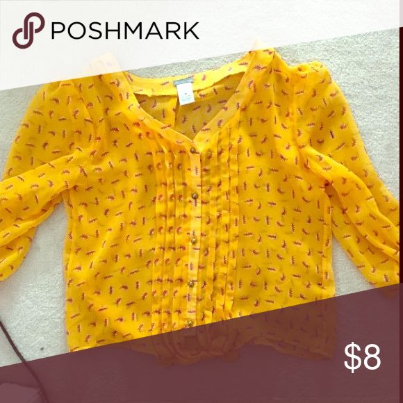 Charolette Rouse Crop Top Beautiful yellow color, only worn one time! Tops Crop Tops