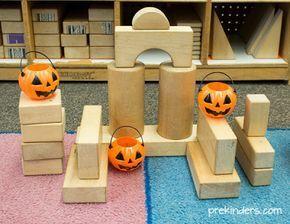 Fall Block Center Play Ideas in Preschool