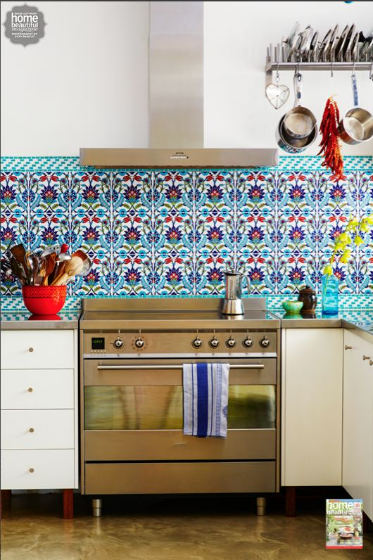 Poh Ling Yeow S Colourful Turkish Tiled Kitchen Looks Like A Fabulous Place To Cook Up