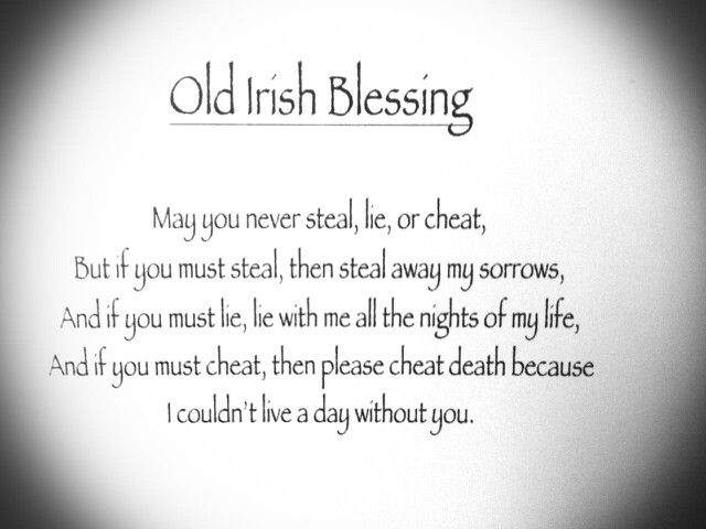 Old Irish blessing quote