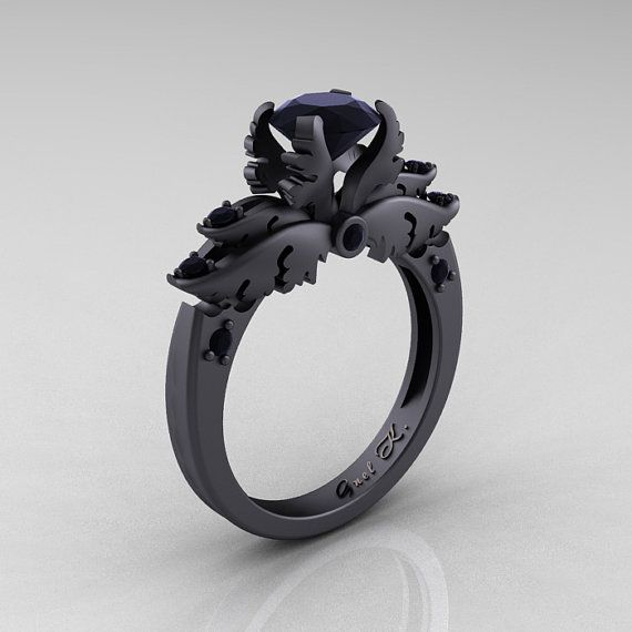 25 best ideas about black gold rings on pinterest black gold engagement rings black gold wedding rings and black rings - Black And Silver Wedding Rings