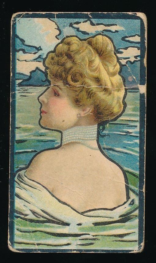 1900 British-American Tobacco Co. cards Water Girls series - Woman bearing back   ref: eBay