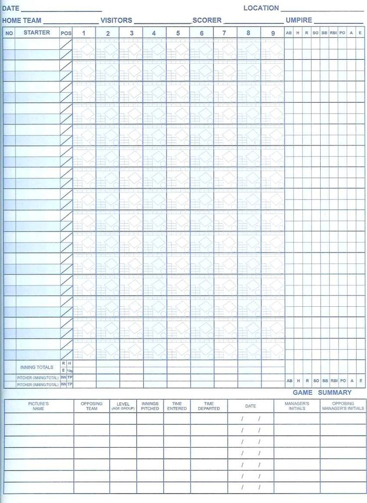 Baseball Score Sheet Baseball Player Stat Sheet Template Free