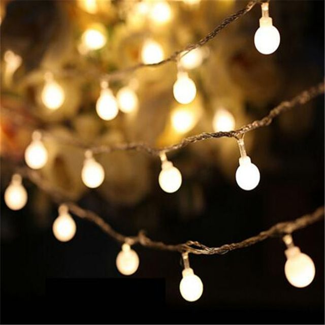 2016 Hot Fairy 10M led string lights with 80led ball AC220V holiday decoration lamp Festival Christmas lights outdoor lighting ** Check this useful article by going to the link at the image. #LightsLightingFixtures