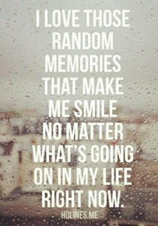 I love those random memories that make me smile. #memories