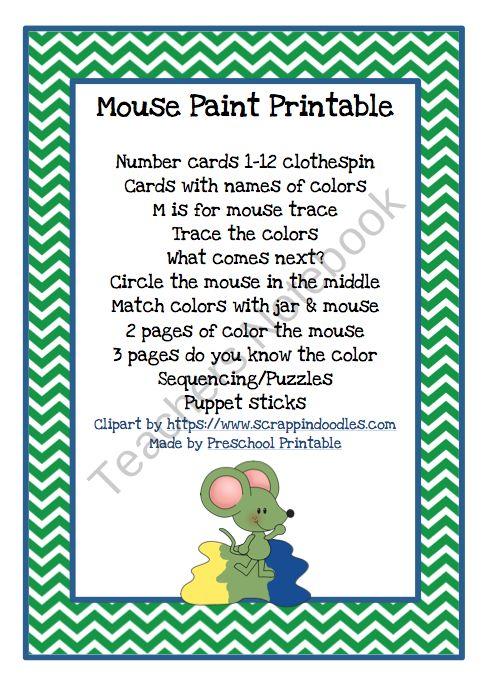17 Best Images About Preschool Mouse Paint On Pinterest