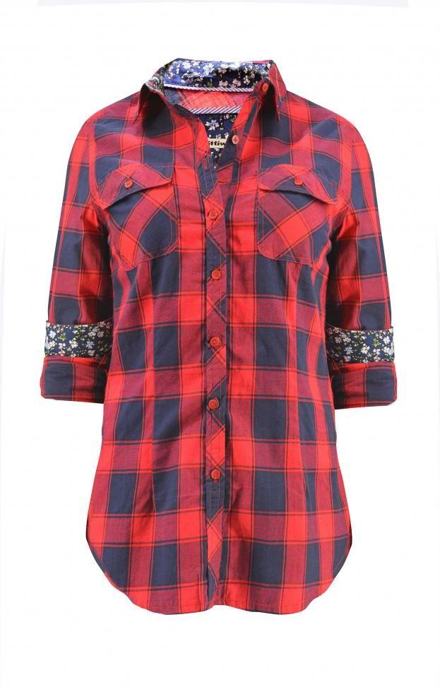 Γυναικείο πουκάμισο καρό  POUK-1627