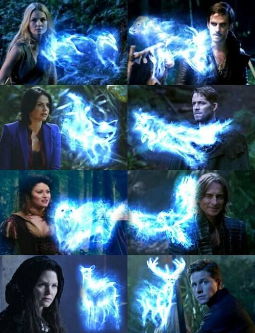 The characters of Once Upon a Time and their patronuses