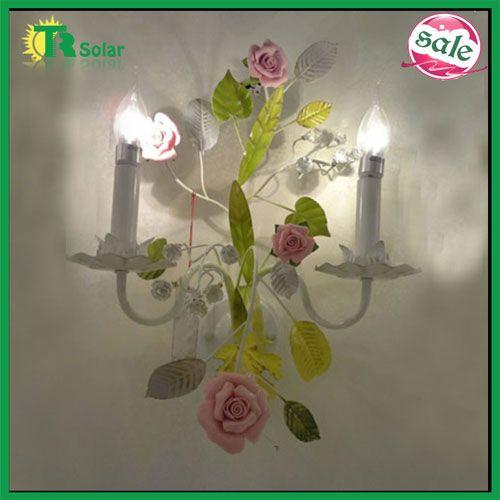 48 best flower wall lamp images on pinterest sconces wall lamps wrought iron rose flower wall lamp from tr solar trsolar email aloadofball Images