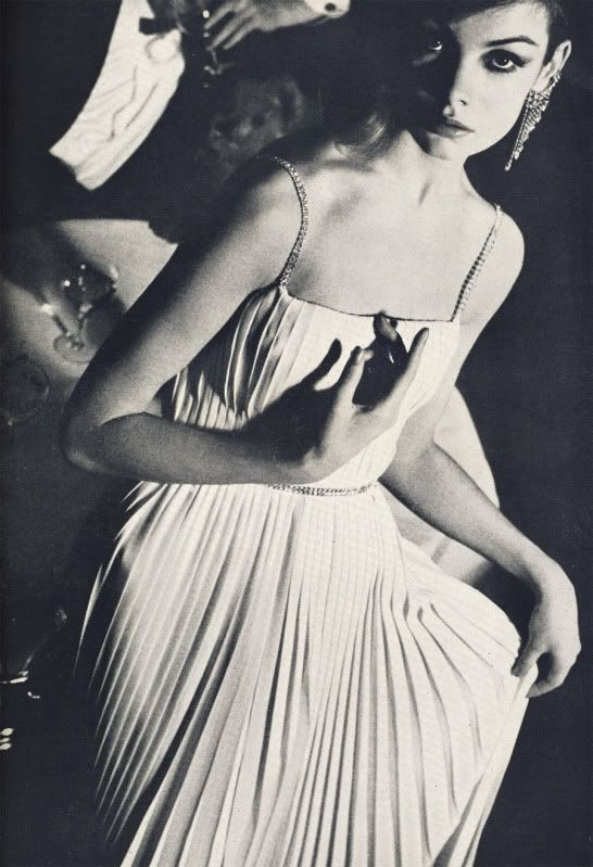 Jean Shrimpton by David Bailey, British Vogue, 1962