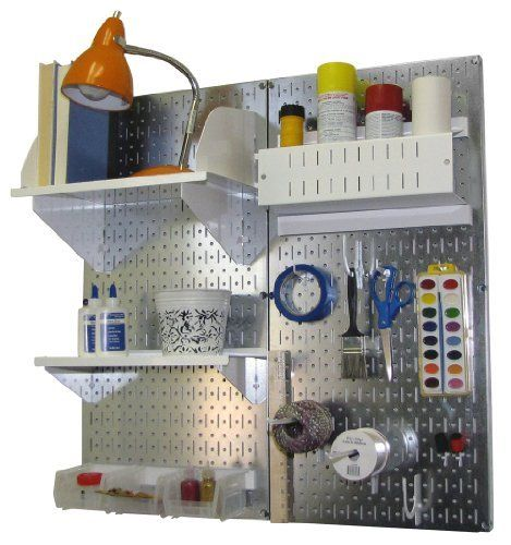 Craft U0026 Hobby Pegboard Organizer Kit   Metallic Pegboard With Accessories