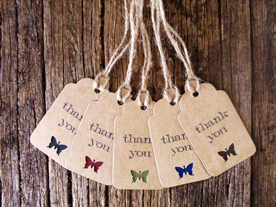 Handmade Thank you tags Gift wrapping tags by Crafting Emotion $5.00AUD
