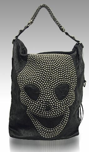 Rock n Roll Style  Skull Studded Bag by Thomas Wylde