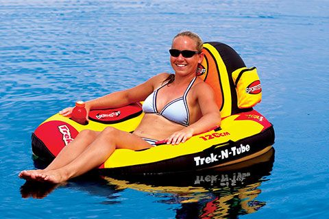 Trek-N-Tube River Tube: the perfect tube for all-day lounging in the river, lake or pool!