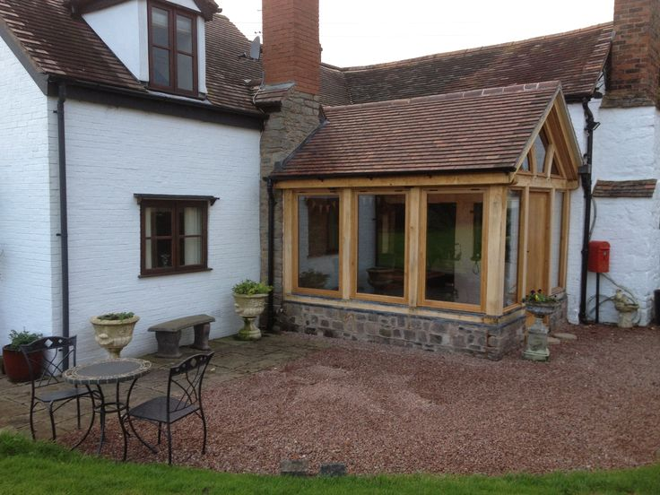 11 best oak frame garden rooms images on pinterest for Wooden garden rooms extensions