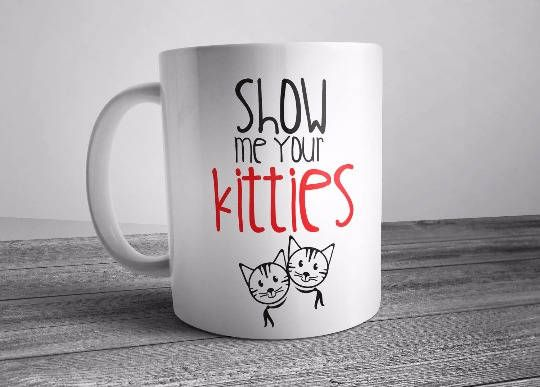 show me your kitties, getting meowied, kitty mug, cat lover gift, cat mug, cat gifts, cats meow, im getting meowied, im getting meowied mug  This cute design will be printed on best quality Grade A fully white Mugs or Mugs with black handle. If you prefer, we can print design on one side and special message on the other side. Kindly specify in order notes. We use dye sublimation and heat transfer technique to print the design on the mugs. This ensures that the design and the words will look…