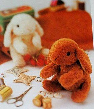 Выкройки для шитья мягкой игрушки - кролика (или зайчика).