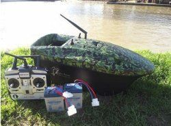 Lake Reaper Bait Boat in Camouflage. My Rating 88 out of 100. This bait boat is simply great value for money and will not break the bank. Having done some research on this bait boat it seems that most people have had very few problems. It's reliable and easy to use but keeping a spare set of batteries as backup especially for long sessions is recommended. Read more at:    http://bestbaitforcarpfishing.com/bait-boat-reviews