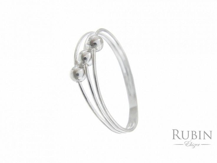 Gömb motívumos ezüst gyűrű