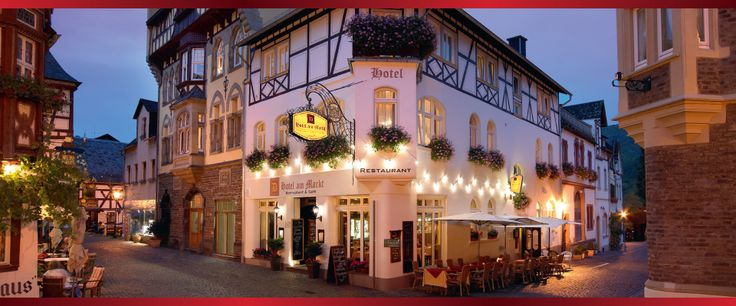 Hotel Am Markt in medieval Bacharach on the Rhine. How gorgeous is it?!