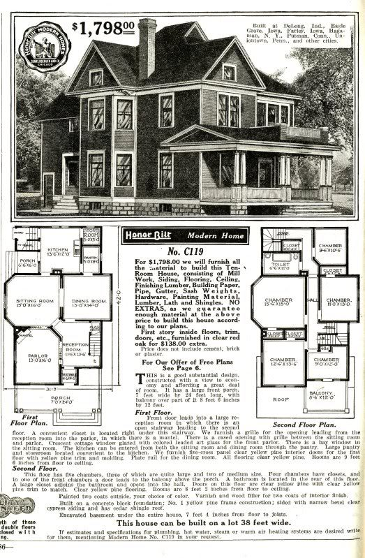 Sears Catalog original catalog page with bay window
