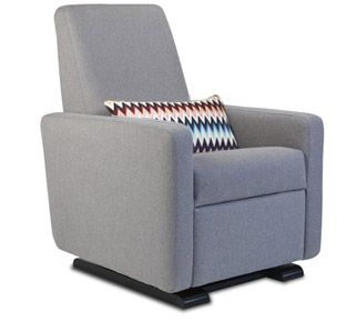 grano glider recliner - contemporary glider chair - modern nursery furniture by Monte Design
