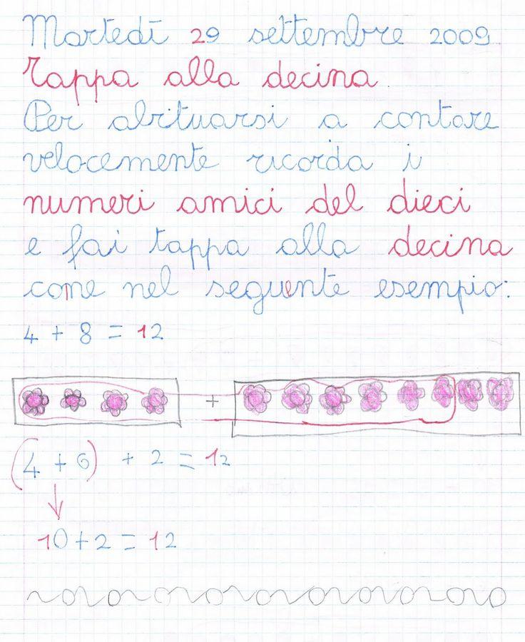 Tappa alla decina Per abituarsi a contare velocemente ricorda i numeri amici del dieci e fai tappa alla decina come n...