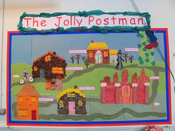 The Jolly Postman display