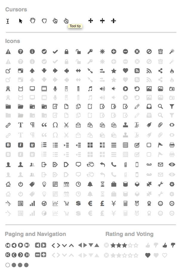 Konigi Axure icons
