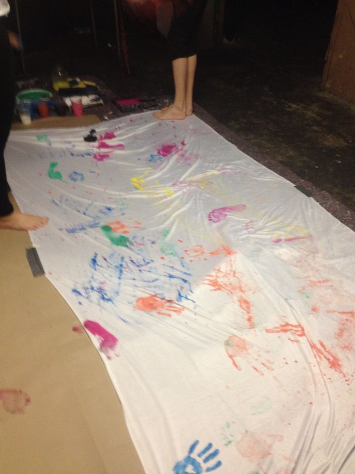 Dancing and Painting - Hand And Foot print