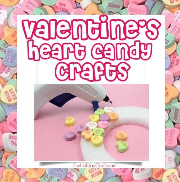 Conversation Heart Crafts for Valentine's day #diy