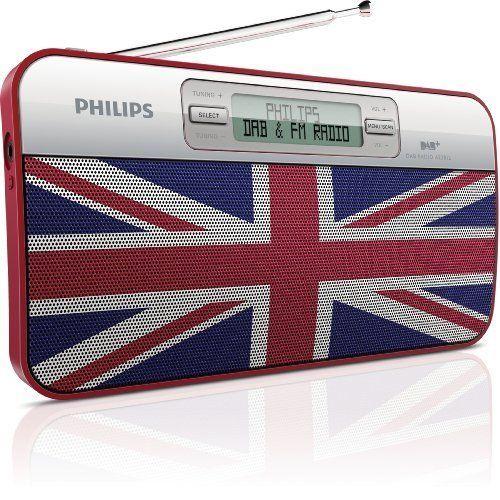 Philips Portable Personal DAB+ Digital Radio AE2012/05