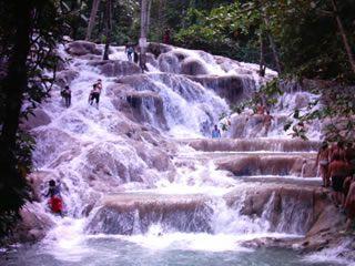 Dunn River Falls in Ocho Rios, Jamaica