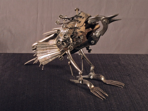 amazing sculptures out of salvaged goods, by Jason Lyons.. wow...Incredibles Work, Junk Sculpture Check, Http Jasonlyonsarts Com, Amazing Sculpture, Birds Sculpture, Metals Art, Funky Junk Interiors, Hop Crows, Amazing Critter