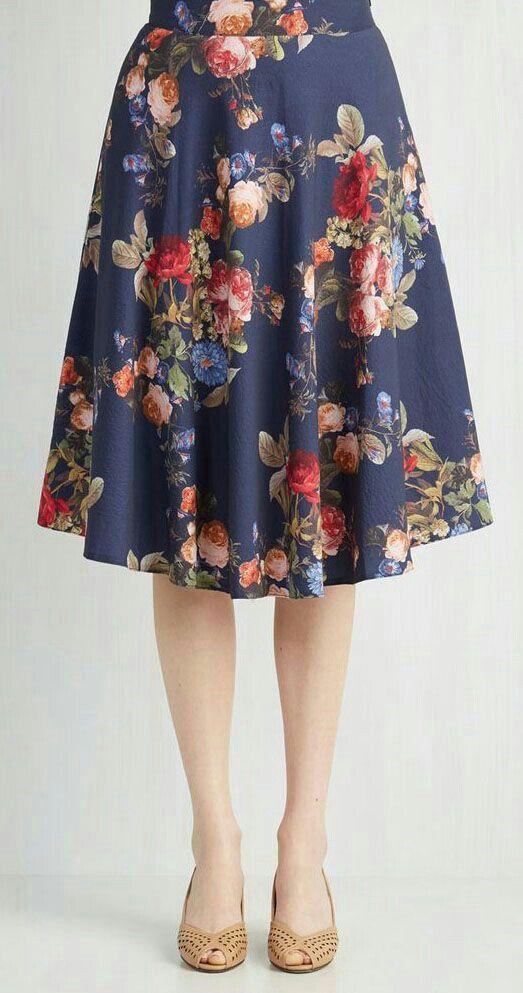 floral printed midi