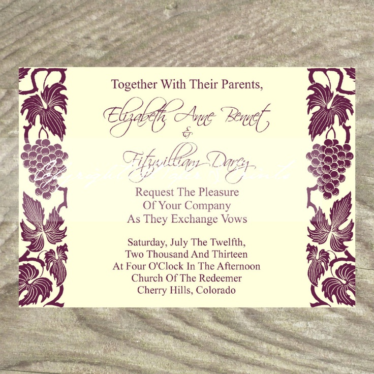 67 Best Vineyard Wedding Invitations Images On Pinterest | Vineyard Wedding,  Wine Country And Wineries