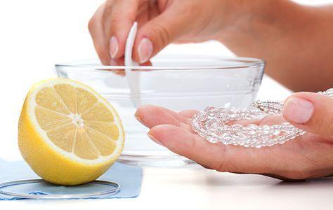 Mit Zitrone Silber reinigen