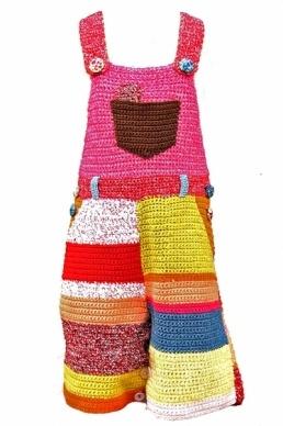 Teeny Tini Hugo Girl Πλεκτό Παντελόνι Σαλοπέτα Χειροποίητο