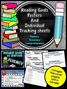 Individual Student Reading goals - Posters and... by For the love of it | Teachers Pay Teachers