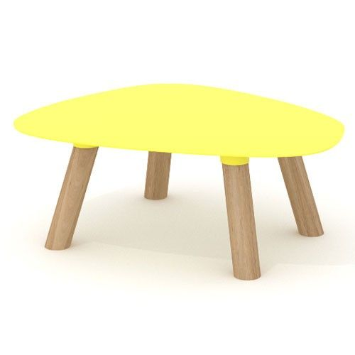 table basse turtle small universo positivo jaune