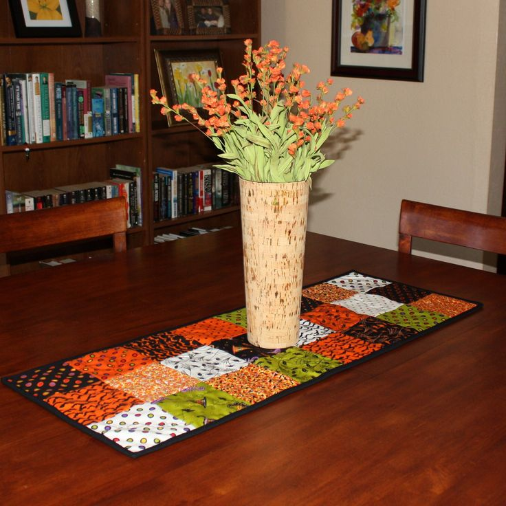 Halloween+Quilted+Table+Runner++Free+by+AngelasExpressions+on+Etsy,+$28.00