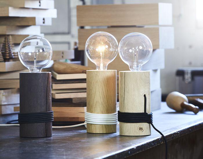 104 besten design leuchten aus holz bilder auf pinterest for Schreibtisch nordisch
