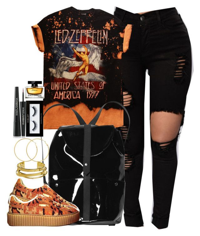 """""""Come and see me for once."""" by cheerstostyle ❤ liked on Polyvore featuring Monki, Puma, Elizabeth and James, Melissa Odabash, Inglot and Dolce&Gabbana"""