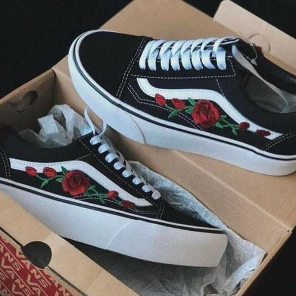 old skool vans rose