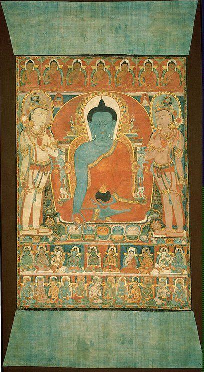 Thangka of Bhaisajyaguru (Medicine Buddha) 12th-13th century, China