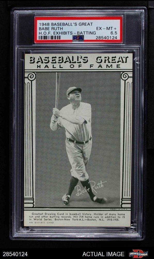 1948 Hall Of Fame Exhibits Babe Ruth Batting Psa 65 Ex