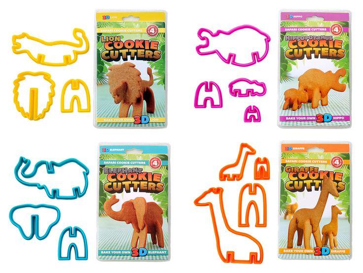 3D Safari Cookie Cutters