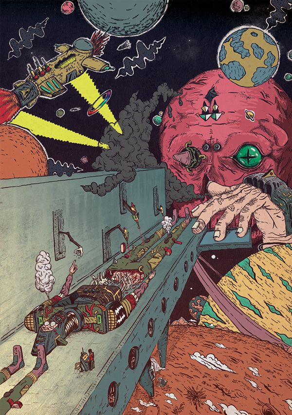 Super Sci fi by Daniel Chastinet, Fortaleza, Brazil | Digital Art | Drawing |  Illustration |